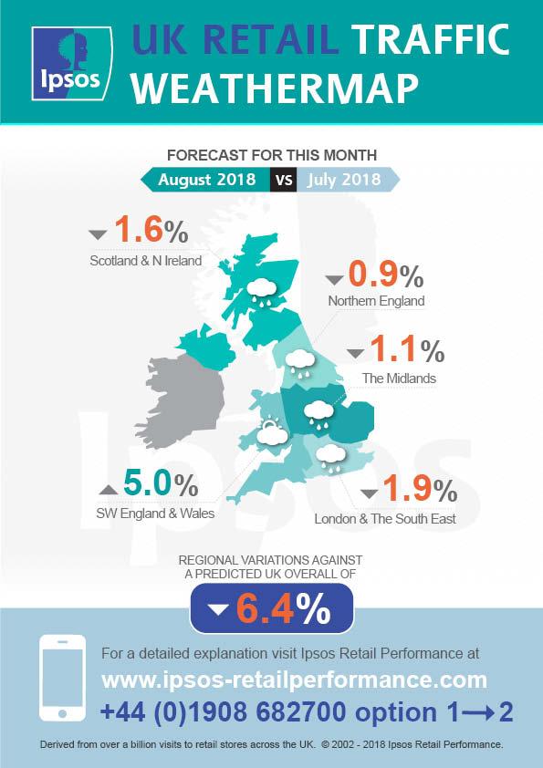 Ipsos Retail Footfall Forecast August 2018